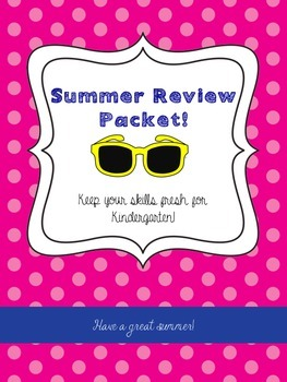 Bright and Cheerful Summer Review Packet Covers!