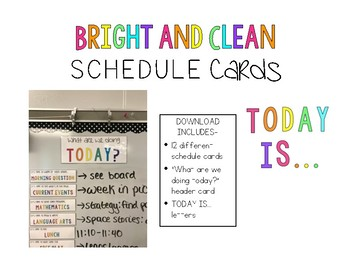 Bright and Clean Schedule Cards