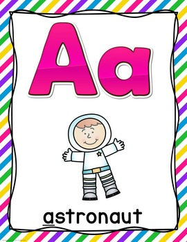 Bright and Colorful Alphabet Posters