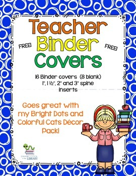 Bright and Colorful Binder Covers {Freebie}