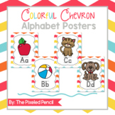 Bright and Colorful Chevron Alphabet Posters