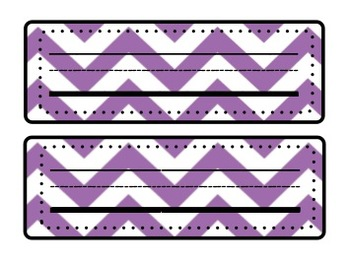 Bright and Colorful Chevron Name Plates for Desks!