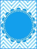 Bright and Colorful Chevron Posters or Printables