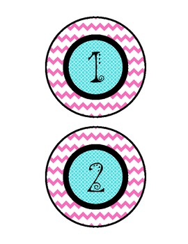 Bright and Colorful Circle Number Set for Labeling