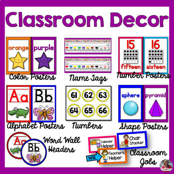 Bright and Colorful Classroom Decor Bundle