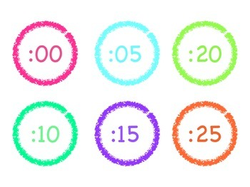 Bright and Colorful Clock Numbers