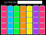 Bright and Colorful Editable Calender