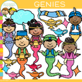 Bright and Colorful Genie Clip Art