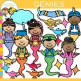 Bright and Colorful Genie Clip Art