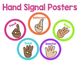 Bright and Colorful Hand Signal Posters