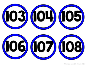 Bright and Colorful Number Cards to 120