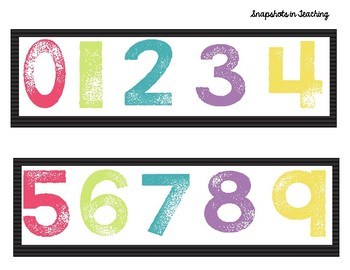 Bright and Colorful Number Line 0-120