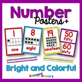 Bright and Colorful Number Posters