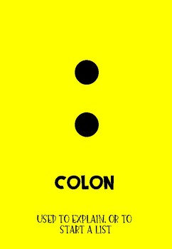 Bright and Colorful Punctuation Posters