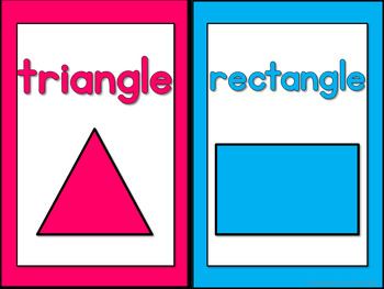 Bright and Colorful Shape Posters
