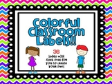 Bright and Colorful Supply Labels (different patterns)