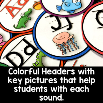 Bright and Colorful Word Wall Headers