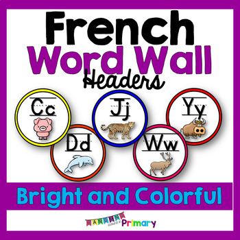 Bright and Colorful FRENCH Word Wall Headers