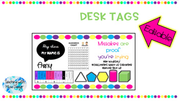 Bright and Colourful Desk Tags