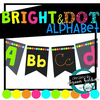 Bright and Dot Alphabet Banner