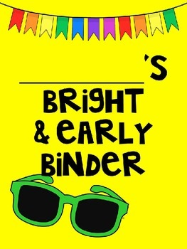 Bright and Early Binder Cover