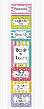 Bright and Fresh Behavior Clip Chart - Classroom Management EDITABLE