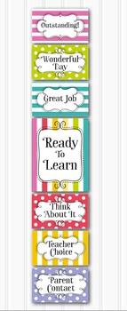 Bright and Fresh Behavior Clip Chart - Classroom Management EDITABLE
