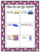 Bright and Happy Polka-dot Transportation Clip Chart