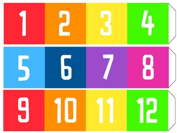Bright and Modern Number Line