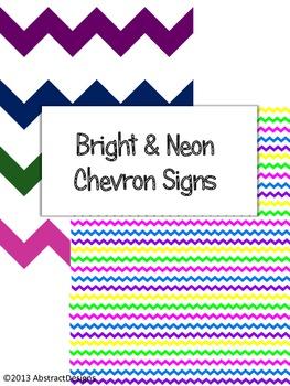 Bright and Neon Chevron Signs
