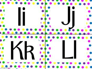 Bright and Neon Polka Dot Alphabet (small)