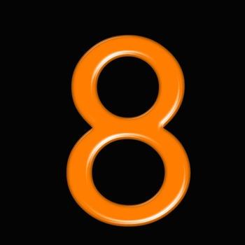 Alphabet Clip Art Bright & Bold in Orange + Numerals, Math Symbols & Punctuation