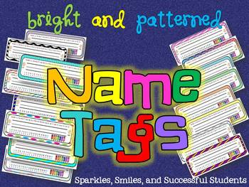 Bright and Patterned Name Tags/Plates