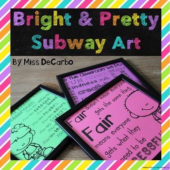 Bright and Pretty Subway Art {Freebie}