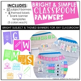 Bright and Simple Classroom Banners