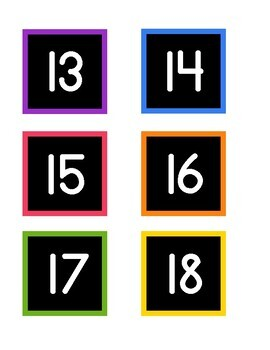 Bright and Simple Calendar Numbers {Black Series}