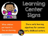 Bright and Simple Learning Center Signs