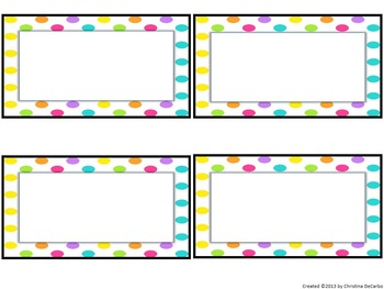 Editable Word Wall Kit {Bright and Sweet}