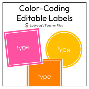 Bright and White Editable Labels
