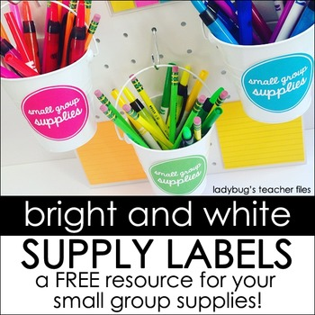Bright and White Labels for Small Group Supplies
