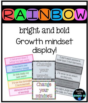 Bright and bold themed growth mindset display!