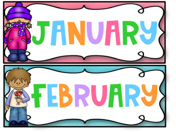 Bright and colorful room decor freebie - month and days of the week labels