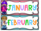 Bright and colorful room decor freebie - month and days of