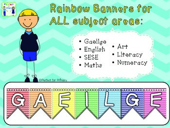 Bright banners for all subject areas