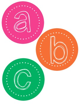 Bright circle ABC headers