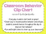 Bright colors Behavior Clip Chart