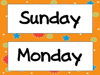 Bright days of the week