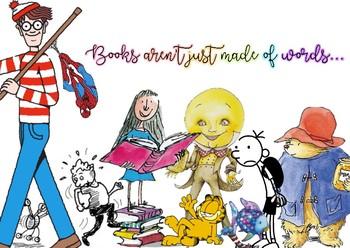Bright fun book Corner poster - Characters