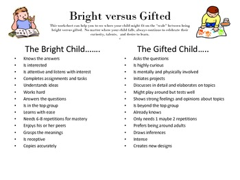 Bright or Gifted?