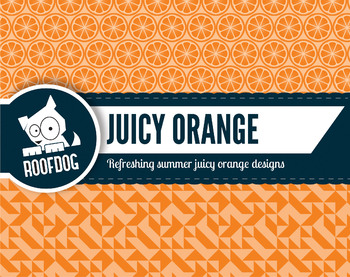 Bright orange citrus zest digital papers summer fruit patterns